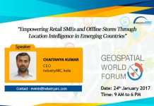 CEO speaking at Geospatial World Forum 2017 summit